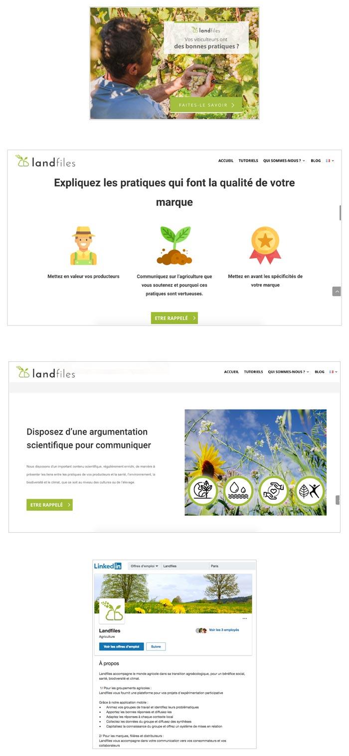 campagne social media BtoB pour plateforme agricole