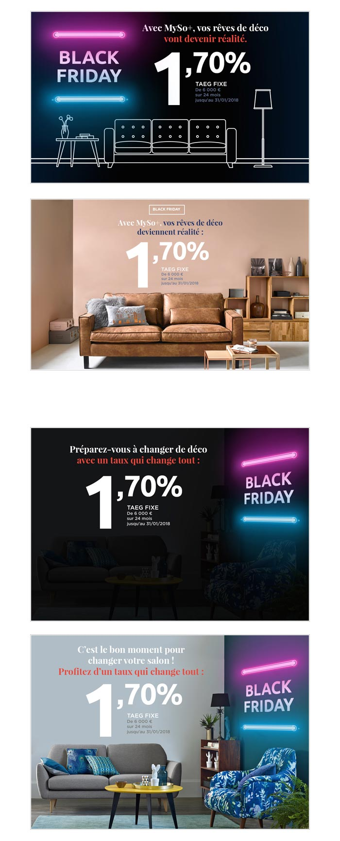landing pages e-commerce le Black Friday