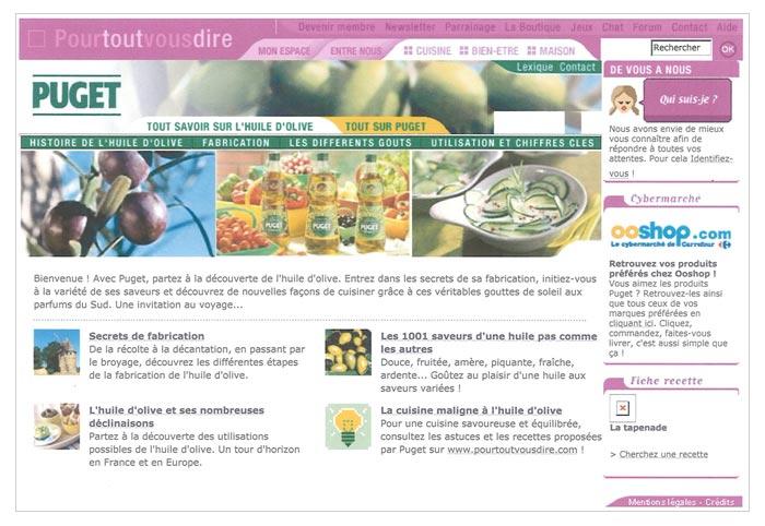 site web secteur agroalimentaire huile d'olive
