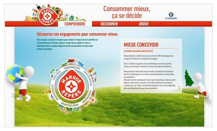 site web sur développement durable pour grande distribution
